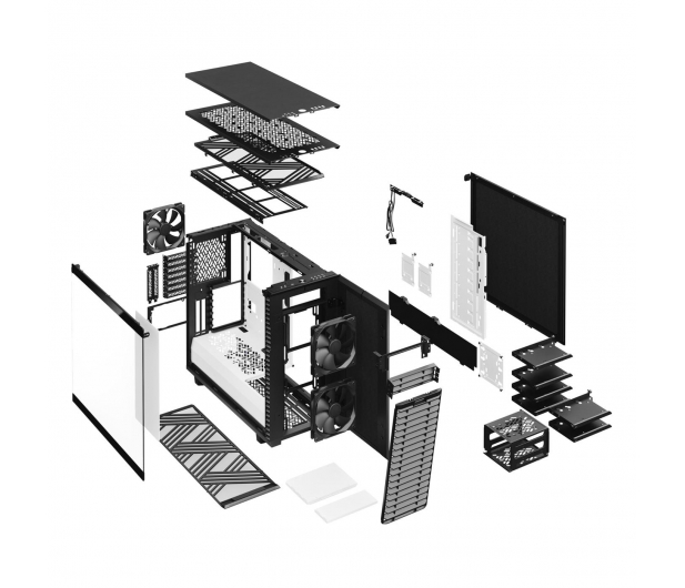 Fractal Design Define 7 black white TG Clear Tint - 553859 - zdjęcie 12