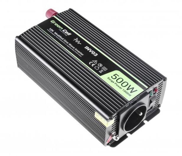 Green Cell Przetwornica napięcia 12V na 230V 500W/1000W - 548209 - zdjęcie