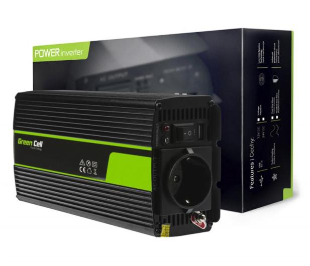 Green Cell Przetwornica napięcia 12V na 230V 300W/600W - 548214 - zdjęcie 3