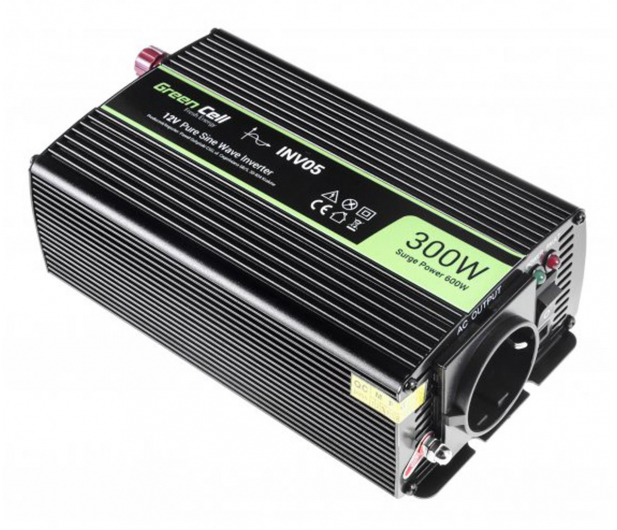 Green Cell Przetwornica napięcia 12V na 230V 300W/600W - 548214 - zdjęcie