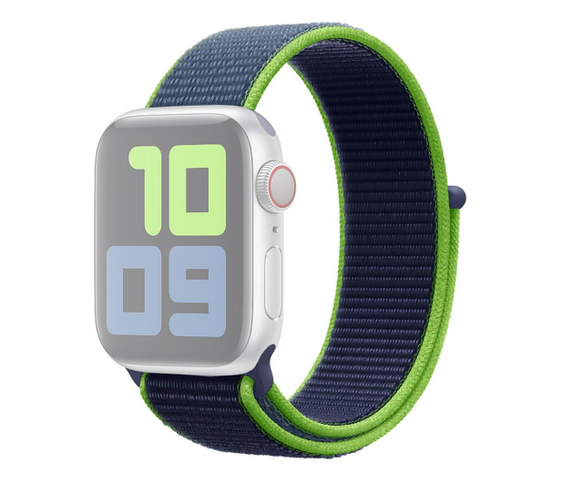 Apple Opaska Sportowa do Apple Watch neonowa limonka  - 553798 - zdjęcie