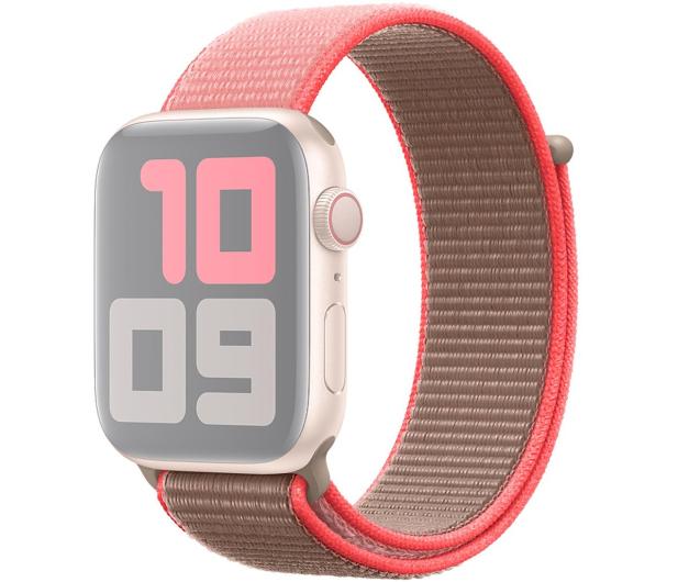 Apple Opaska Sportowa do Apple Watch neonowy róż  - 553804 - zdjęcie