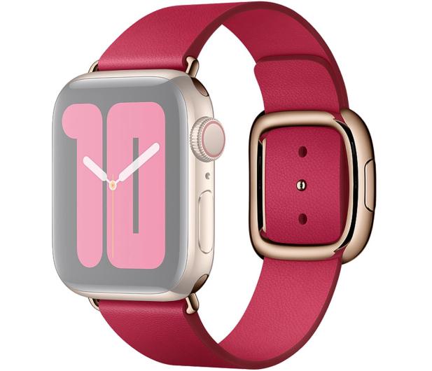 Apple Pasek z Klamrą Nowoczesną do Apple Watch malinowy  - 555243 - zdjęcie 2