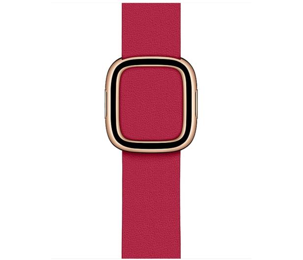Apple Pasek z Klamrą Nowoczesną do Apple Watch malinowy  - 555243 - zdjęcie