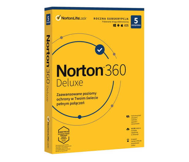 NortonLifeLock Norton Security Deluxe 5st. (12m.) ESD - 563502 - zdjęcie