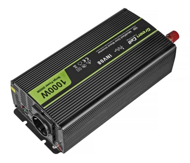 Green Cell Przetwornica napięcia 12V na 230V 1000W/2000W - 548220 - zdjęcie 2
