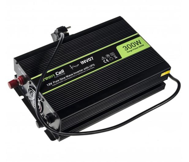 Green Cell Przetwornica napięcia 12V na 230V 300W/600W - 548219 - zdjęcie 2
