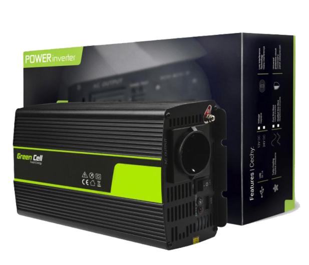 Green Cell Przetwornica napięcia 24V na 230V 1500W/3000W - 548234 - zdjęcie