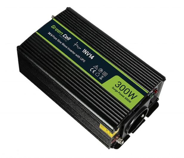 Green Cell Przetwornica napięcia 24V na 230V 300W/600W - 548228 - zdjęcie