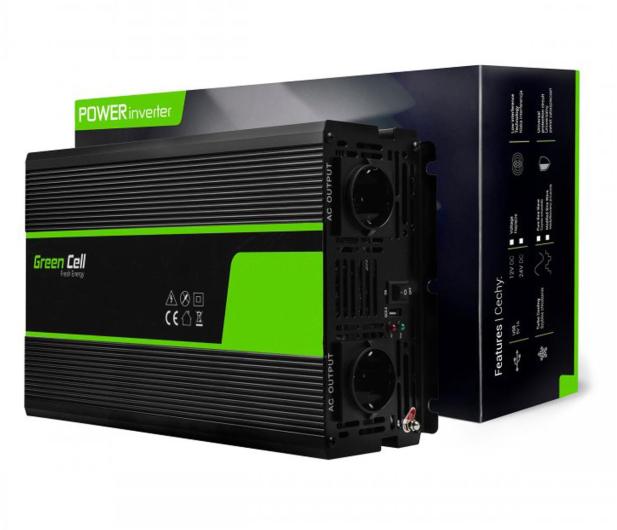 Green Cell Przetwornica napięcia 12V na 230V 3000W/6000W - 548229 - zdjęcie 4