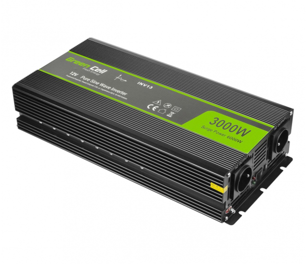 Green Cell Przetwornica napięcia 12V na 230V 3000W/6000W - 548229 - zdjęcie