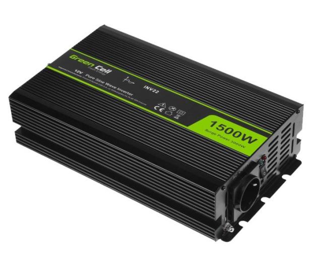 Green Cell Przetwornica napięcia 12V na 230V 1500W/3000W - 548236 - zdjęcie 2