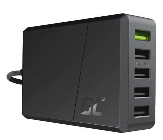 Green Cell Ładowarka sieciowa ChargeSource5 (5x USB, 52W) - 548697 - zdjęcie