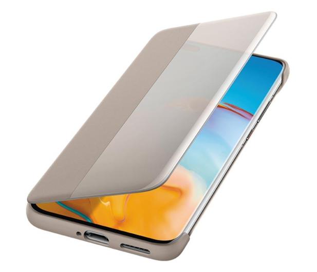 Huawei Smart View Flip Cover do Huawei P40 Pro khaki - 559401 - zdjęcie 3