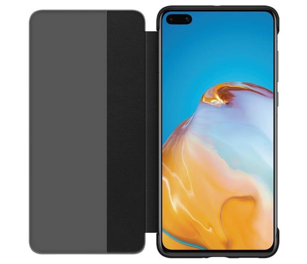 Huawei Smart View Flip Cover do Huawei P40 czarny - 559397 - zdjęcie 2