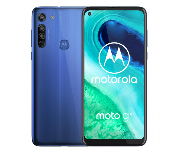 Motorola Moto G8 4/64GB Neon Blue - 560498 - zdjęcie