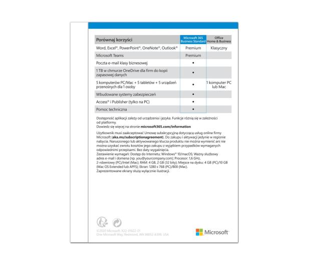 Microsoft 365 Business Standard | zakup z komputerem - 557553 - zdjęcie 3