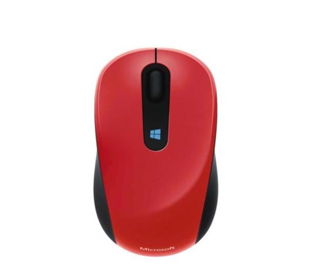 Microsoft Sculpt Mobile Mouse Ognista Czerwień - 164964 - zdjęcie
