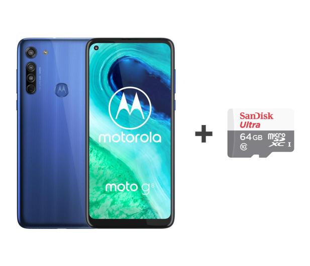 Motorola Moto G8 4/64GB Neon Blue + 64GB - 562023 - zdjęcie