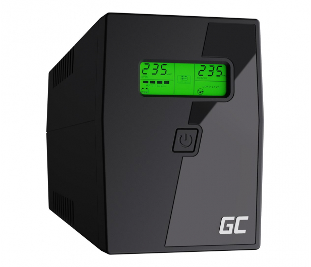 Green Cell UPS (600VA/360W, 2x Schuko, AVR, LCD) - 546062 - zdjęcie