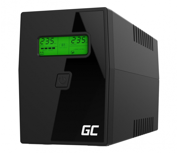 Green Cell UPS (800VA/480W, 2x Schuko, AVR, LCD) - 546063 - zdjęcie