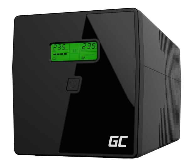 Green Cell UPS (1000VA/600W, 2xIEC, 2x Schuko, AVR, LCD) - 546064 - zdjęcie