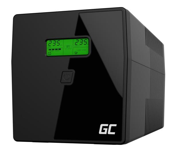 Green Cell UPS (1000VA/700W, 2x IEC, 2x Schuko, AVR, LCD) - 546082 - zdjęcie