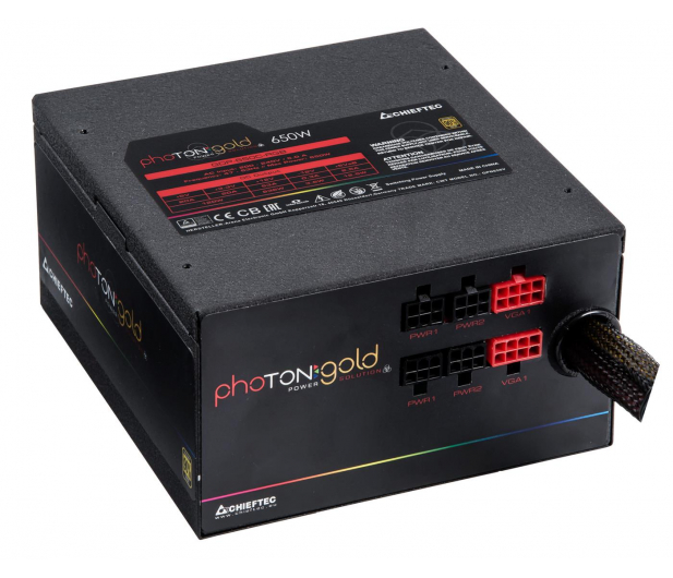 Chieftec Photon RGB 650W 80 Plus Gold - 556552 - zdjęcie 4