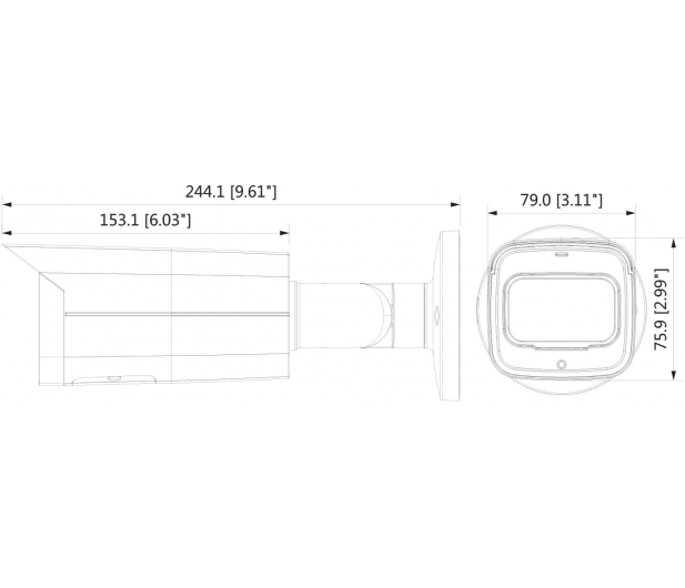 Dahua IPC 6,3MP 3,6mm IR 60m IP67 DC12V PoE - 551793 - zdjęcie 2