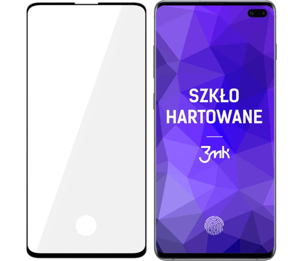 3mk HardGlass MAX do Samsung Galaxy S10+ Black - 501024 - zdjęcie
