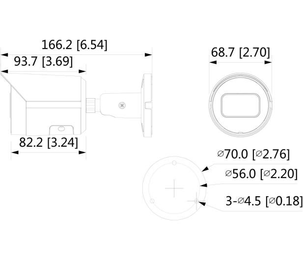 Dahua IPC 5MP 2,8mm IR 30m IP67 DC12V PoE - 555099 - zdjęcie 2