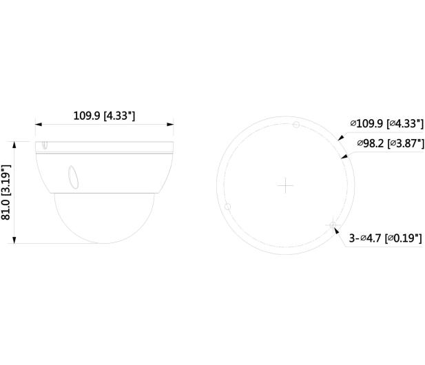 Dahua IPC 2MP 2,8mm IR 30m IP67 DC12V PoE - 555107 - zdjęcie 2