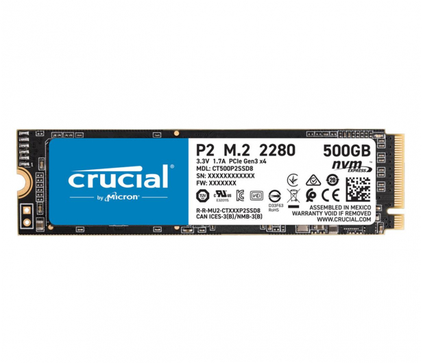 Crucial 500GB M.2 PCIe NVMe P2 - 558426 - zdjęcie