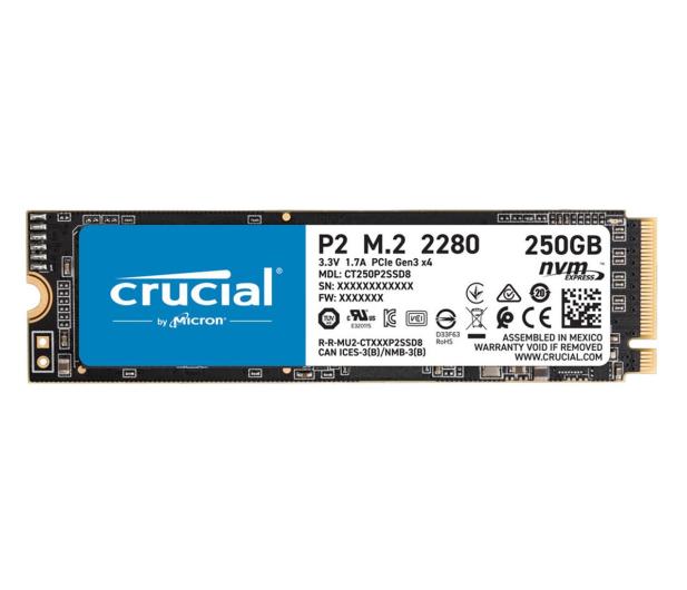 Crucial 250GB M.2 PCIe NVMe P2 - 558425 - zdjęcie