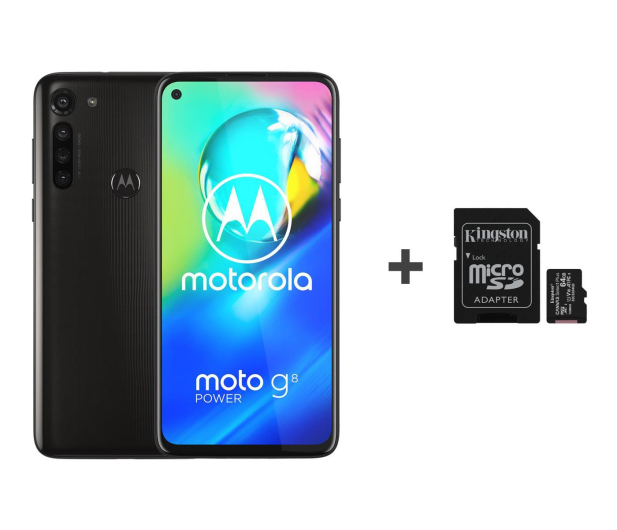 Motorola Moto G8 Power 4/64GB Dual SIM Smoke Black + 64GB - 543213 - zdjęcie
