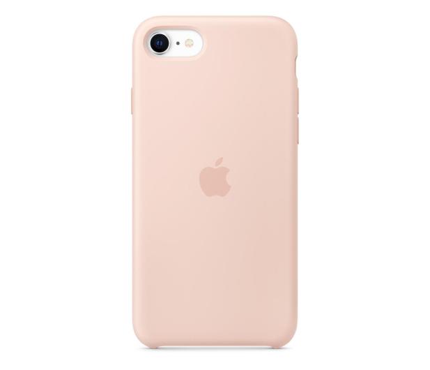 Apple Silicone Case do iPhone 7/8/SE piaskowy róż - 567455 - zdjęcie