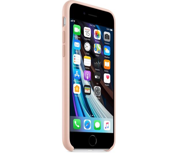 Apple Silicone Case do iPhone 7/8/SE piaskowy róż - 567455 - zdjęcie 3