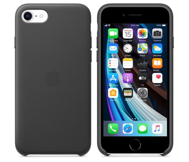 Apple Leather Case do iPhone 7/8/SE czarny - 567459 - zdjęcie 2