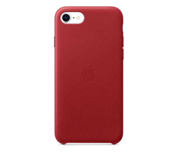 Apple Leather Case do iPhone 7/8/SE (PRODUCT) RED - 567462 - zdjęcie
