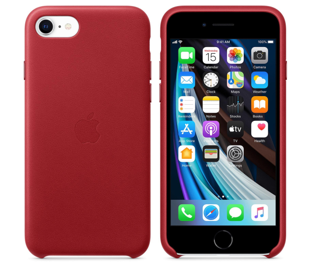 Apple Leather Case do iPhone 7/8/SE (PRODUCT) RED - 567462 - zdjęcie 2