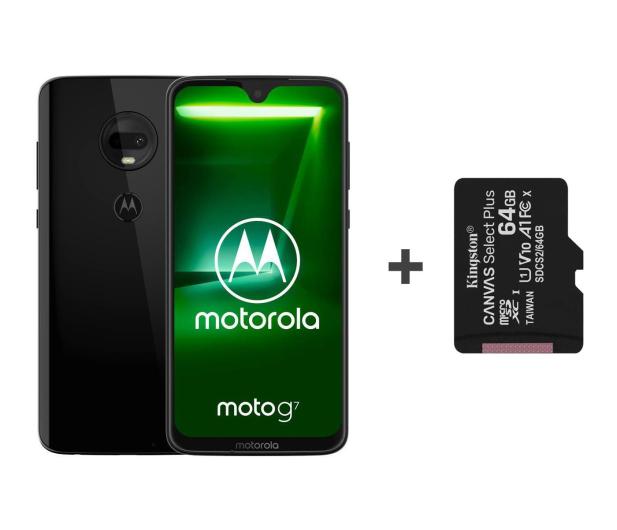 Motorola Moto G7 4/64GB Dual SIM Ceramic Black + 64GB - 483115 - zdjęcie