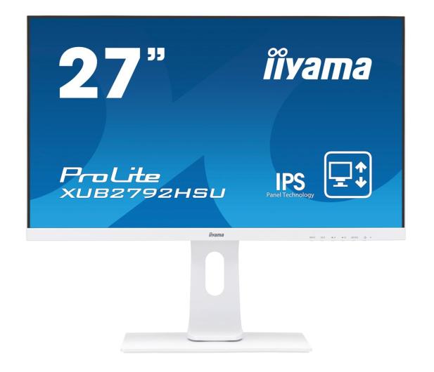 iiyama XUB2792HSU-W1 biały - 564337 - zdjęcie