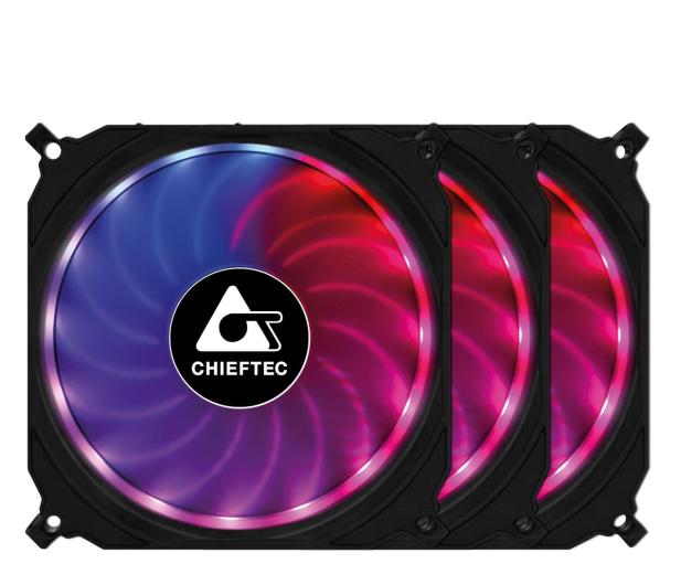 Chieftec Tornado RGB 3x120mm - 572372 - zdjęcie