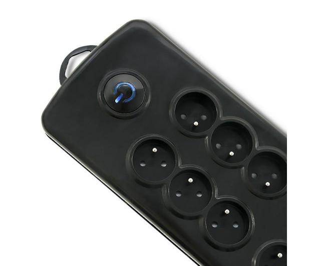 Qoltec Quick Switch - 8 gniazd, 2,5m - 461999 - zdjęcie 2