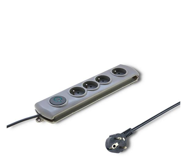 Qoltec Quick Switch - 4 gniazda 1,5m - 462003 - zdjęcie