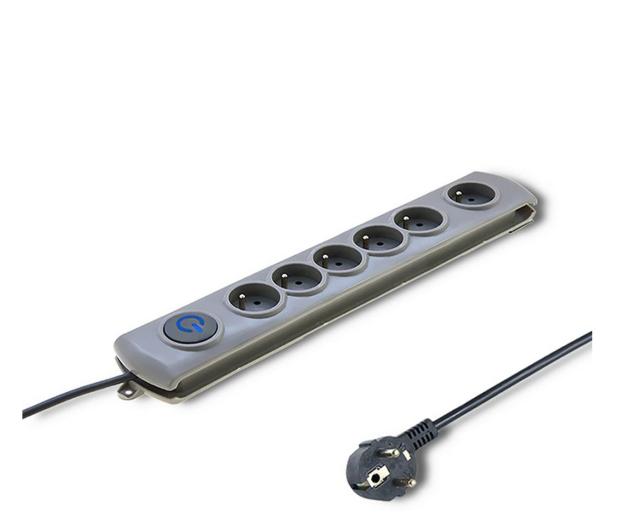 Qoltec Quick Switch - 6 gniazd, 1,8m - 462007 - zdjęcie