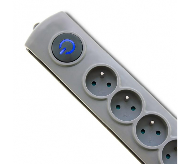 Qoltec Quick Switch - 8 gniazd, 1,8m - 462011 - zdjęcie 2