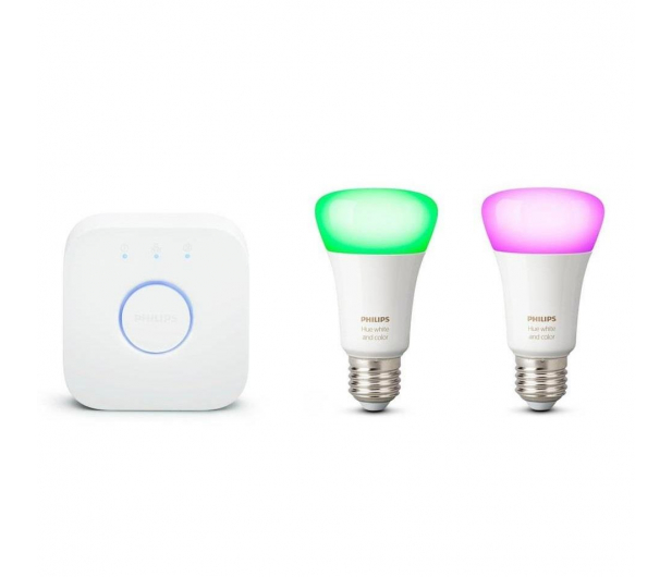 Philips Hue White and Color Ambiance (2szt. E27+Mostek) - 567503 - zdjęcie