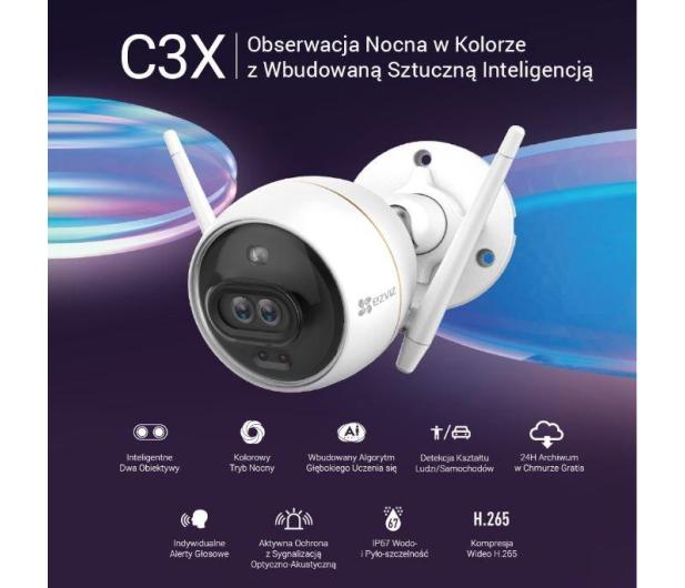 EZVIZ C3X ColorNightVision Ai FullHD LED IR Syrena IP67 - 569617 - zdjęcie 7