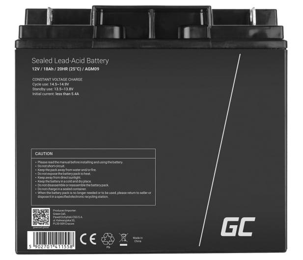 Green Cell Akumulator AGM  12V 18Ah - 547922 - zdjęcie 2